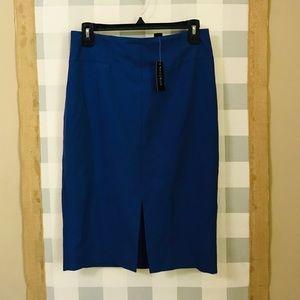 White House Black Market blue pencil skirt